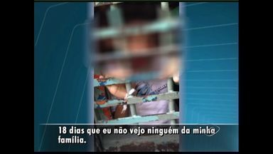 Menores infratores sofrem com superlotação da UNAI no ES - Em celas para 8 internos, ficam mais de 15. Por falta de espaço na Unidade de Atendimento Inicial, os adolescentes dormem no corredor, algemados para não fugirem.