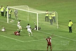 Com gol no fim, CRB vence o Sampaio - Diego Aragão marca o único gol do jogo, que gera lance polêmico e reclamações dos jogadores do Sampaio.