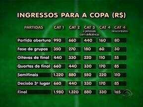 Esporte: começa nesta terça-feira a primeira etapa de venda de ingressos para Copa de 2014 - Confira a tabela de preços.