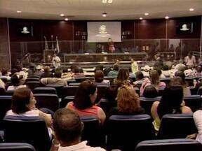 Servidores da Agespisa promovem ato público contra projeto de subdelegação - Servidores da Agespisa promovem ato público contra projeto de subdelegação