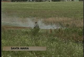 Aumenta a incidência de fogo em campo em Santa Maria - Nessa manhã os bombeiros atenderam duas ocorrências deste tipo.