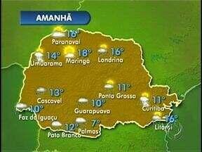 Londrina tem previsão de chuva para amanhã (25) - Segundo a previsão do tempo, a chuva deve chegar a Londrina já neste final de semana e traz junto uma frente fria que deve derrubar as temperaturas.