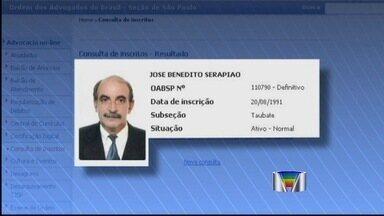 Após uma semana preso, advogado condenado por abuso sexual é solto - O advogado de Taubaté, José Benedito Serapião, de 64 anos, condenado a 48 anos de prisão na última semana por abuso sexual contra três adolescentes, foi solto na tarde desta terça-feira (3).