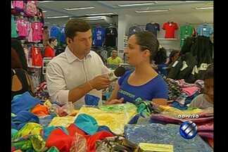 Comércio deve aquecer e contratar 6 mil temporários - O repórter Guilherme Mendes tem as informações.