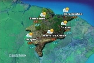 Veja como fica a previsão do tempo para esta quarta-feira (4) - Faz muito sol no Maranhão nesta quarta-feira. A temperatura fica elevada e continua fazendo calor no estado, com baixa umidade relativa do ar. Não há previsão de chuva para nenhuma região.