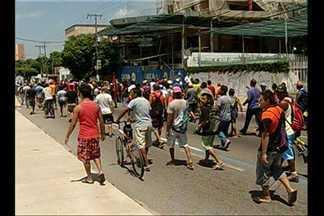 Trabalhadores da construção civil voltam a ocupar as ruas de Belém - Trabalhadores da construção civil voltam a ocupar as ruas de Belém, no terceiro dia de greve