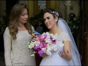 Vídeo Show mostra os bastidores do casamento de Valdirene em Amor á Vida - Tatá Werneck e outros comentam gravação que acabou em confusão