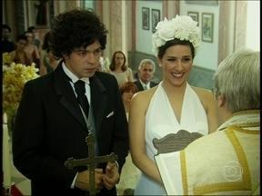 Relembre um casamento hilário com Bruno Mazzeo em Junto e Misturado - Noivo, no altar, ficou de pensar se iria casar mesmo ou não