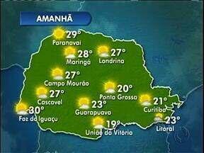 O tempo deve melhorar na tgarde de sexta-feira - As temperaturas para o feriado ficam amenas.
