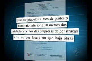 Sinduscon consegue liminar que proíbe os operários de fazer piquetes em Belém - Protestos estão proibidos a menos de 50 metros das empresas do setor e dos canteiros de obra.