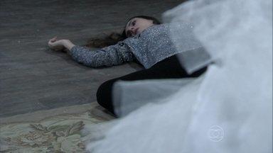 Leila cai da escada depois de ver o vestido de Nicole - Golpista entra em estado de choque