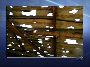 Chuva de granizo atinge municípios do Oeste de SC - Chuva de granizo atinge municípios do Oeste de SC