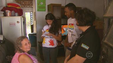 Jovens de Olinda participam de campanha para pedir o fim da violência contra crianças - Ação foi organizada pela paróquia anglicana Água Viva.