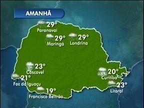 Domingo vai ser de chuva em todo o estado - Temperaturas não devem cair