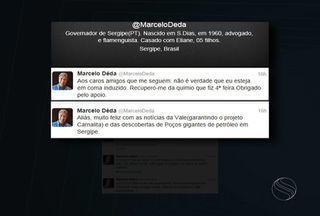 Governador Marcelo Déda desmente boatos sobre o estado de saúde dele - Governador Marcelo Déda desmente boatos sobre o estado de saúde dele