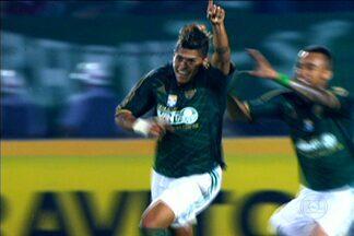 Palmeiras vence o Oeste e fica mais perto do acesso para a Série A - Leandro e Serginho marcaram os gols do Verdão na vitória por 2 a 0.