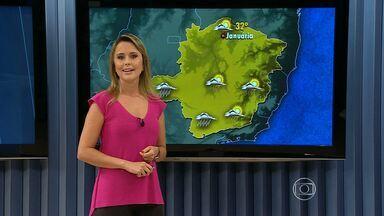 Previsão é de chuva em Belo Horizonte e parte da Região Metropolitana nesta quarta (16) - Veja no mapa os detalhes da previsão do tempo.