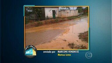 Chuva causa transtornos para moradores de Mateus Leme e Santa Luzia - Veja os vídeos recebidos pelo VC no MGTV.