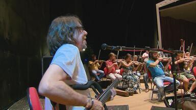 Lenine e Orquestra Sinfônica Brasileira ensaiam para show no Dona Lindu - No repertório, estarão canções de compositores locais e internacionais.
