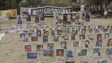 Parentes de vítimas de violência se reuniram para exigir mudanças - A reunião foi neste sábado (19), em Praia Grande, SP. Eles querem mudança no Código Penal Brasileiro.