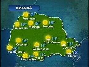Paraná terá domingo de sol - Em Londrina, termômetros variam entre 18 e 30 graus e a previsão para a semana que vem é de mais calor