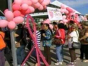 Projeto Outubro Rosa oferece exames gratuítos para as mulheres - Milhares de pessoas participaram do evento com atividades.