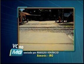 VC no MG: Morador de Aimorés envia fotos relatando intervenção de empresa na cidade - Segundo morador, a empresa teria retirado parte do asfalto de um trecho na cidade.