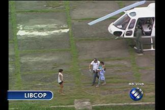 Bombeiros resgatam de helicóptero criança em Muaná - Libcop mostra as imagens.
