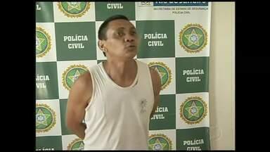 Após ser solto, acusado de estupro é preso por ameaça em Volta Redonda, RJ - Ele estava preso há sete meses, mas voltou para a cadeia por ameaçar a vítima e a mãe dela, que seria ex-mulher do suspeito.