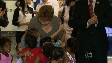 Pela 7ª vez em 2013, Dilma Rousseff visita Minas Gerais - Presidente veio a Belo Horizonte inaugura Umei