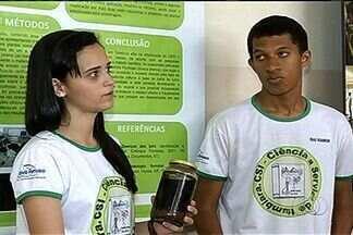 Alunos de escola pública de Itumbiara participam de feira internacional de ciências - Os estudantes criaram um inseticida natural para combater pragas que impediam o florescimento dos ipês, árvore símbolo do cerrado.