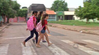 Educação para crianças sobre leis de trânsito em Cuiabá - Uma escola da capital faz atividades de educação para crianças sobre leis de trânsito.