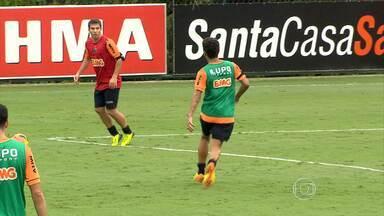 Jogadores do Galo estão na espectativa para convocação de Felipão - Delegação argentina visitou a Cidade do Galo nesta quarta-feira.
