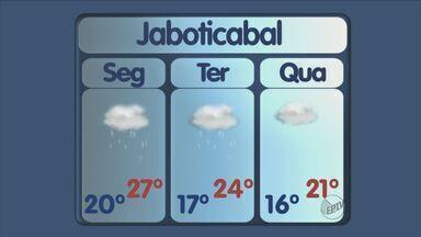 Confira a previsão do tempo para esta segunda-feira (4) em Ribeirão e região - Tempo fica nublado na maioria das cidades, com pancadas de chuva a qualquer hora do dia.