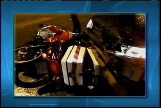 Acidente deixa motociclista ferido em Montes Claros - Acidente foi na Vila Guilhermina.