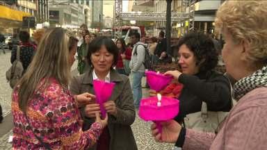 Manifestação marca os 5 anos da morte de Raquel - Raquel Genofre foi morta depois que saiu da escola. Corpo foi deixado em mala na rodoviária.
