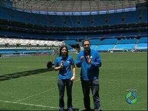 Atlético e Grêmio prontos para duelo em Porto Alegre - Direto da Arena Grêmio, Nadja Mauad e Robson de Lazzari contam as novidades dos rivais da semifinal da Copa do Brasil