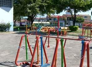 Moradores da Serra reclamam de obra parada no bairro de Porto Canoa - A promessa para o Centro de Convivência é para o ano que vem: retomada da obra só em 30 de junho de 2014.
