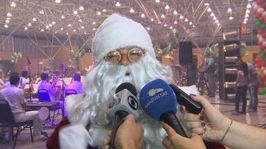 Papai Noel chega ao Studio 5 em Manaus - Milhares de crianças aproveitaram o momento para fazer pedidos.