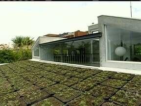 Empresas começam a instalar o telhado verde em suas construções - O telhado verde é um excelente isolante térmico. No verão, pode diminuir em até 70% o calor, dependendo da construção e custa R$ 140 por metro quadrado.