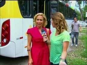 Dani Monteiro pega ônibus com Fátima e Sueli, de Tapas e Beijos - Confira tudo o que rolou nos bastidores da gravação do seriado