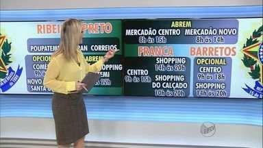 Confira o que abre e fecha nesta sexta-feira em Ribeirão - Shoppings têm funcionamento facultativo em feriado da Proclamação da República