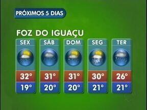 Feriado vai ser chuvoso em Foz e região - Mesmo assim tempo continua abafado