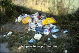 Moradora denuncia coleta de lixo atrasada em Itaquaquecetuba - Em Itaquaquecetuba, a coleta está atrasada há dois meses, de acordo com uma moradora do bairro Rancho Grande.