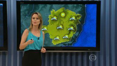 Frente fria provoca chuva forte em Belo Horizonte no fim de semana - Na tarde desta sexta-feira (22), previsão é de sol na maioria das regiões. Veja os detalhes no mapa.