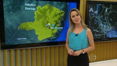 Belo Horizonte pode ter chuva neste fim de semana - Mudança é resultado de frente fria que avança por Minas; no sábado e no domingo, termômetros ficam entre 19ºC e 24ºC.