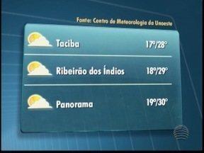 Sábado deve ser de céu aberto em Presidente Prudente - Temperaturas podem chegar aos 28º. Confira a previsão para outras cidades da região.