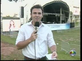 Confira os preparativos para o show deste sábado (23) no Parque do Povo - O repórter David de Tarso traz os detalhes dos últimos ajustes para a festa.