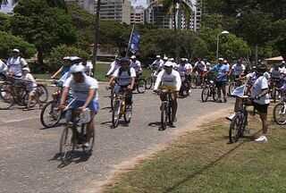 Passeio ciclístico marca Dia Mundial da Aids em Aracaju - Passeio ciclístico marca Dia Mundial da Aids em Aracaju neste domingo (2). Testes rápidos foram feitos no local.