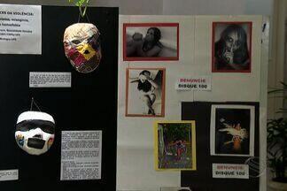 Exposição na capital marca à mobilização do fim da violência contra mulher - Exposição na capital marca à mobilização do fim da violência contra mulher